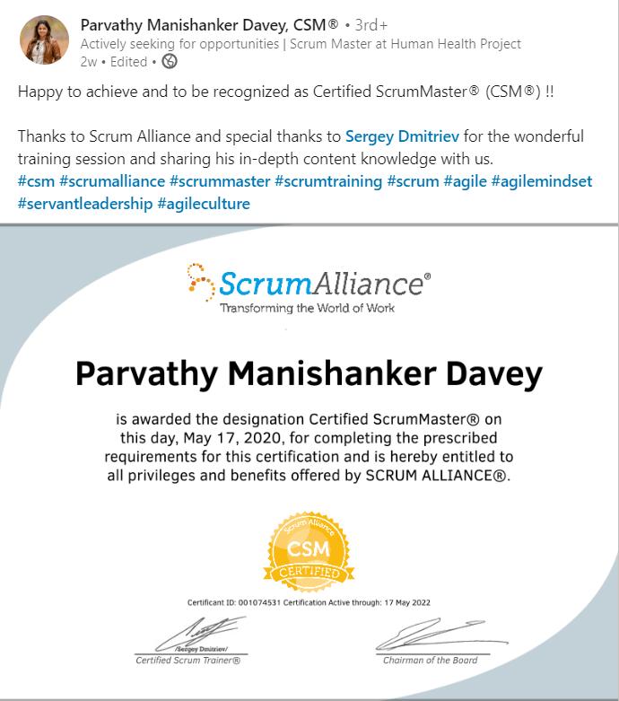 Parvathy Manishanker Davey